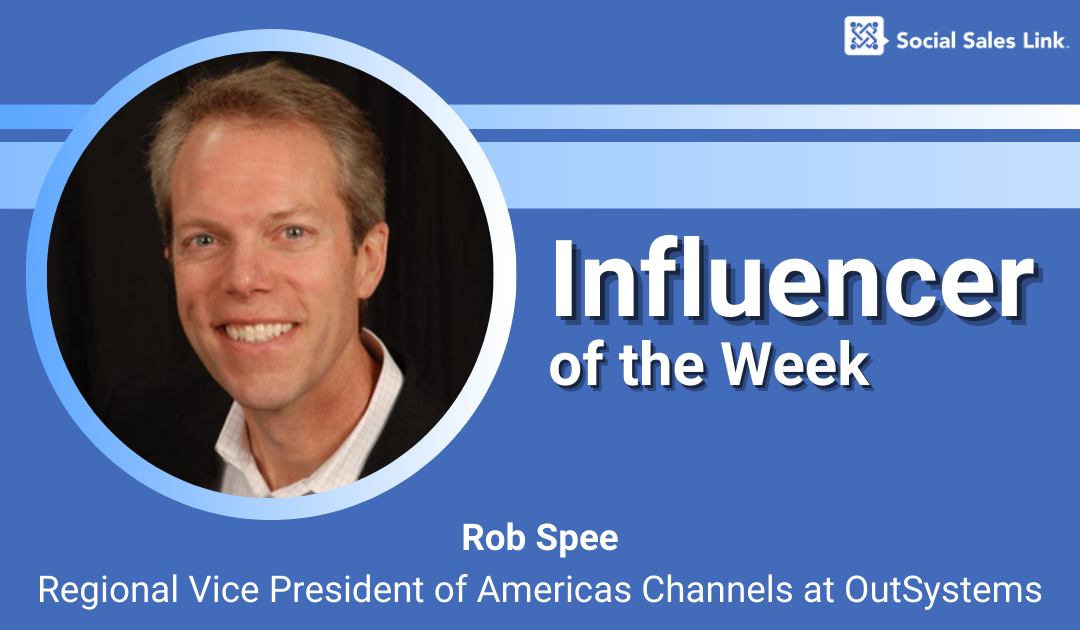 Meet our 'Influencer of the Week', Rob Spee!